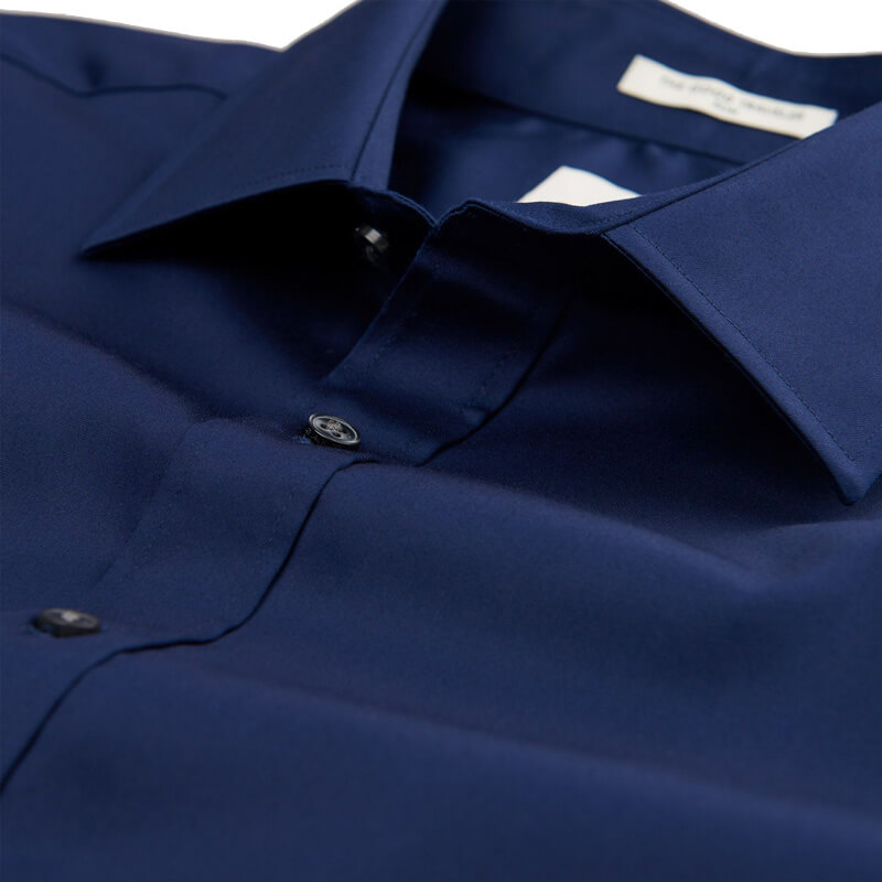32f64b744bc5 Αντρικο Πουκάμισο Gant Stretch Satin 3050416 423 Σκούρο Μπλε