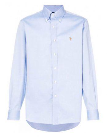 classic γαλαζιο πουκαμισο ralph