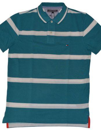 stripe μπλουζα gant πετρολ 1