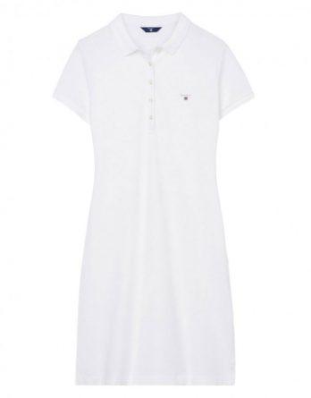 offer-30% γυναικειο pique gant ασπρο φορεμα slim ... 15554723d70