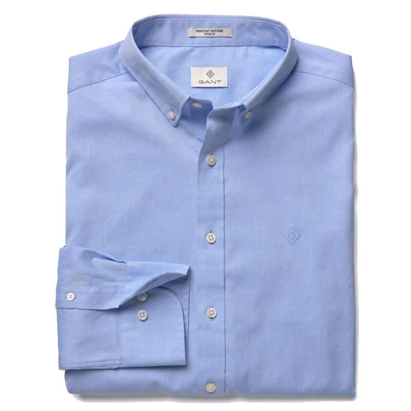 Αντρικό Πουκάμισο Pinpoint Oxford Gant 303000 468 Γαλάζιο db82196a7c8