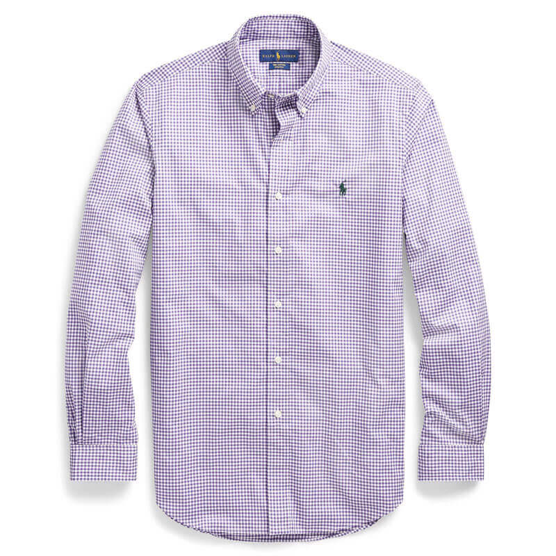 d09a1f3e95eb Αντρικό Πουκάμισο Polo Ralph Lauren Check Shirt 710716296017 Μωβ