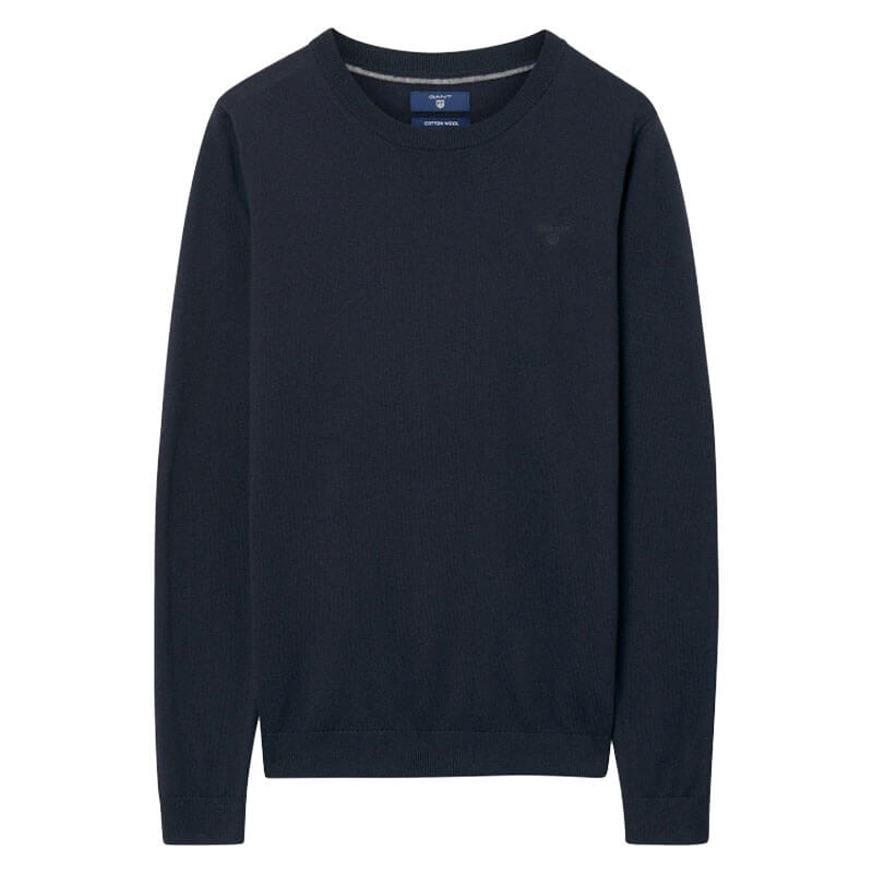 3dfdbf811107 Γυναικείο Πουλόβερ Cotton Wool Crew Gant 4801501 405 Σκούρο Μπλε