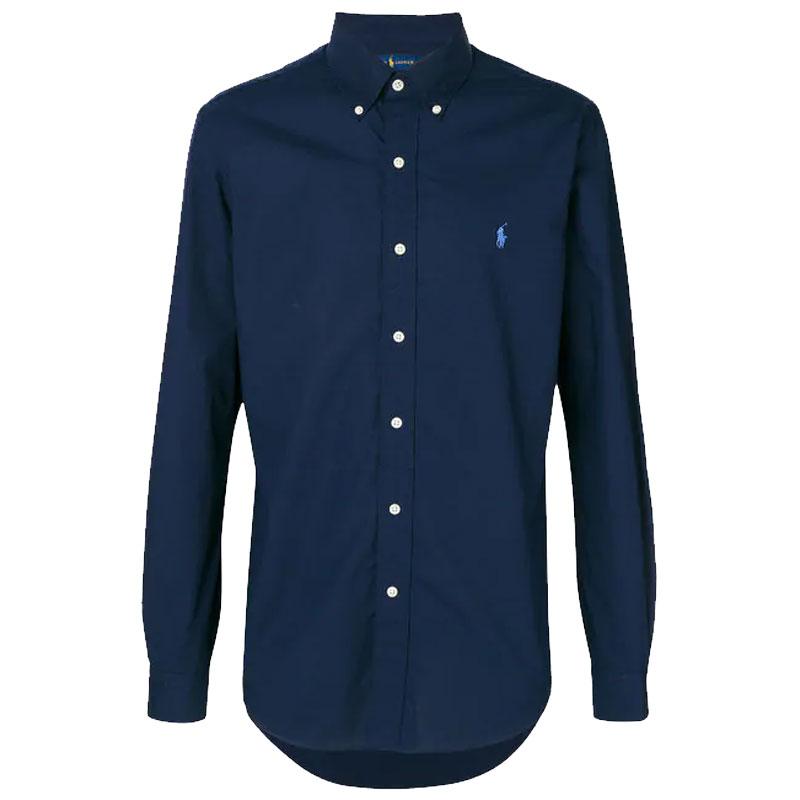 a256da252d10 Αντρικό Πουκάμισο Polo Ralph Lauren Slim Classic Pony 710705269006 Μπλε