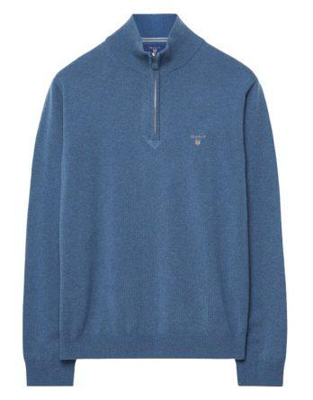 2eadb63be8c8 sale-10% τζιν μπλε πουλοβερ αντρικο half zip gant ...