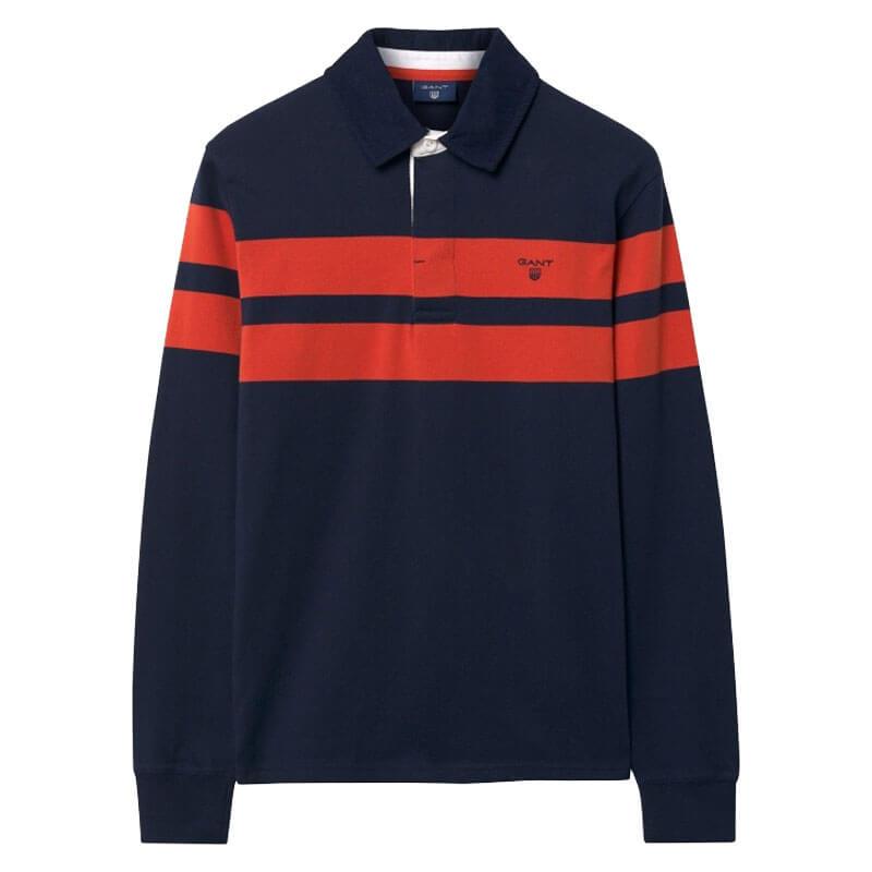 1bb14cc37f5f ... Αντρική Μπλούζα Gant Chest Stripe Heavy Rugger 2005016 433 Σκούρο Μπλε.  sale -20%. μπλουζα gant stripe σκουρο μπλε