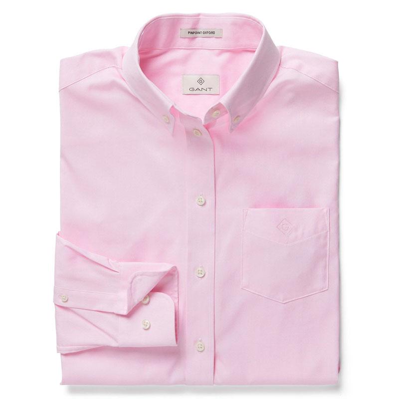 Αντρικό Πουκάμισο Pinpoint Oxford Gant 303000 161 Ροζ 2281f07022f