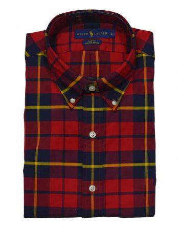 Αντρικό Πουκάμισο Polo Ralph Lauren Check Shirt 710615675013 Κόκκινο 408566e0e01