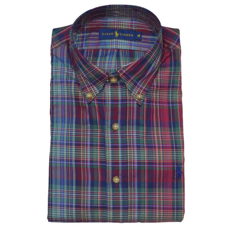 Αντρικό Πουκάμισο Polo Ralph Lauren Check Shirt 710615717015 Μπλε ... b636c405f19