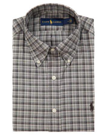 Αντρικό Πουκάμισο Polo Ralph Lauren Check Shirt 710671895003 Μαύρο-Γκρι 32fac25e737