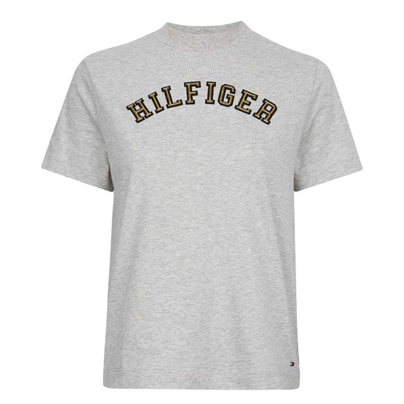 a60925e9d788 Γυναικείο T-shirt Tommy Hilfiger Mimi WW0WW23676 039 Γκρι Ανοιχτό