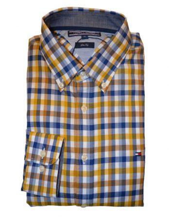 28d02825f6ea Αντρικό Πουκάμισο Tommy Hilfiger Eli Check 08878Α0742 923 Κίτρινο-Μπλε