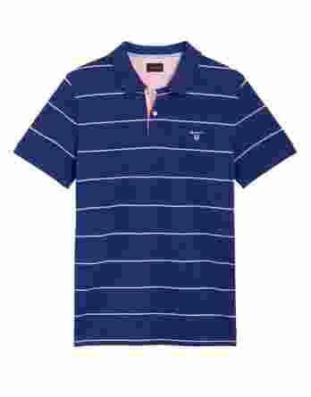 ανδρική polo gant ρίγα μπλε ροζ