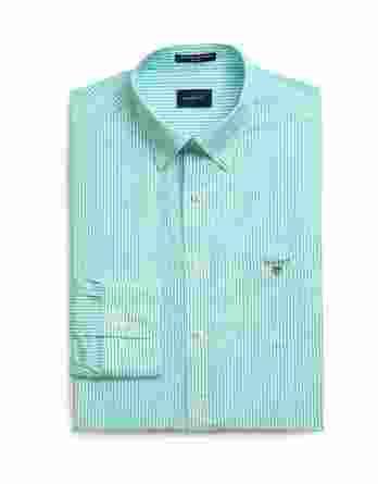 ανδρικό πουκάμισο gant ρίγα πράσινο