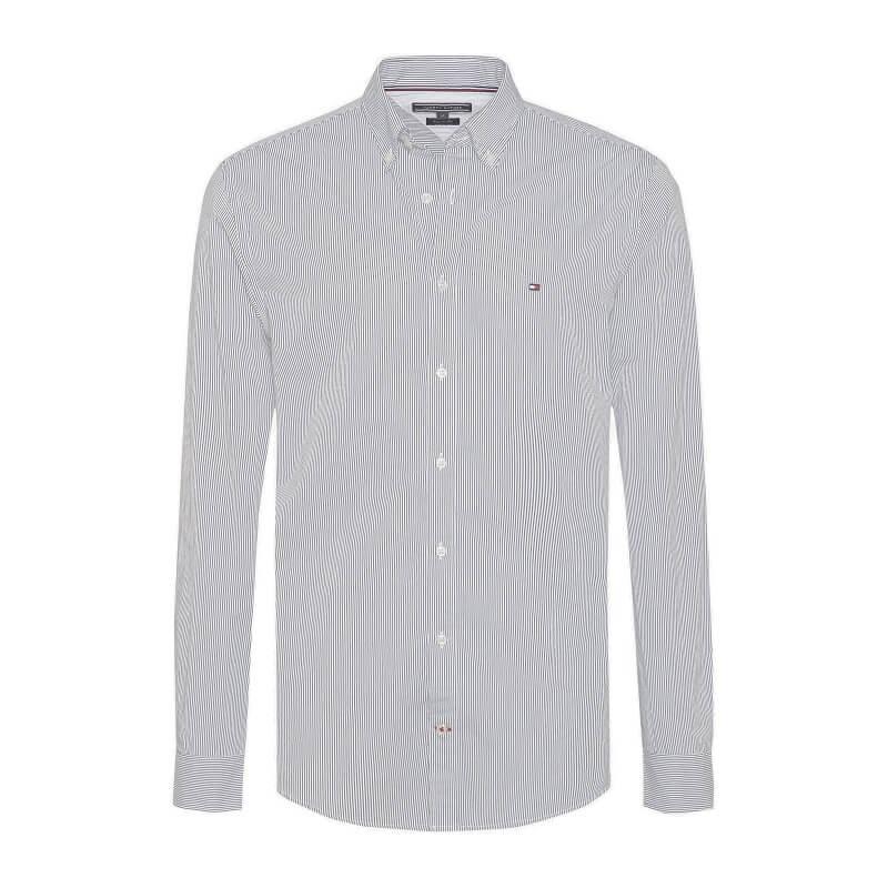 872299485e38 Ανδρικό Πουκάμισο TOMMY HILFIGER Core Stripe Shirt MW0MW06776 902 Μπλέ
