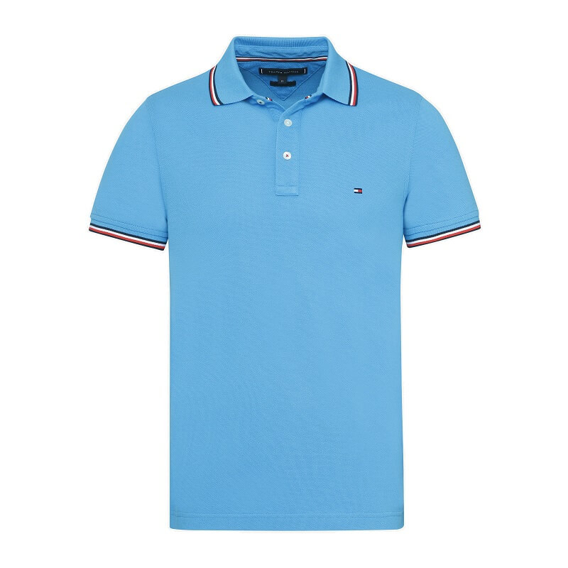 ccaf8ef208b8 ... Μπλούζα TOMMY HILFIGER Tipped Slim Polo MW0MW09734 433 Γαλάζιο. prev