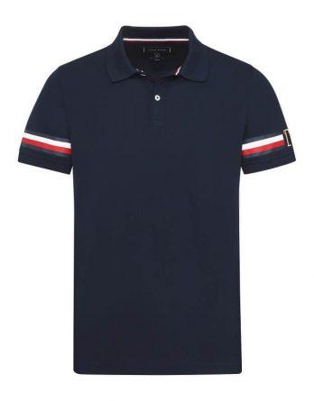 748c5a94d3fd Ανδρική Μπλούζα TOMMY HILFIGER Icon Sleeve Stripe Slim Polo MW0MW09750 403  Σκούρο Μπλέ