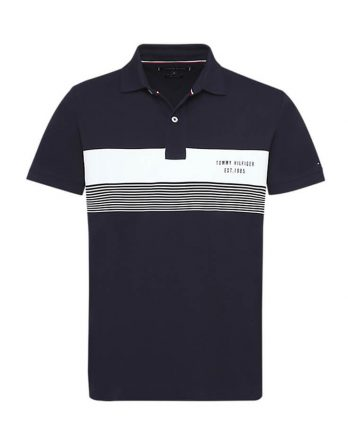d7554a673926 ανδρική μπλούζα tommy hilfiger μπλε με άσπρη λεπτομέρεια
