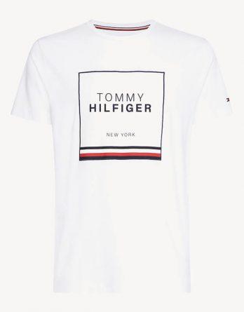 4e24db3edd13 Ανδρική Μπλούζα TOMMY HILFIGER Corp Applique Tee MW0MW10369 100 Άσπρο