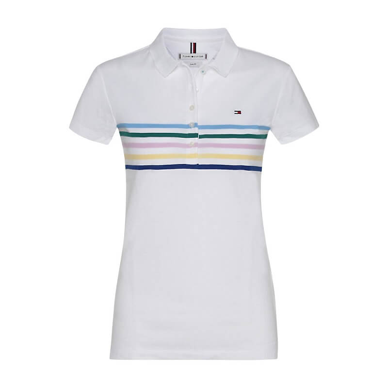 1899a5f78c2b Γυναικεία Μπλούζα TOMMY HILFIGER Polo New Chiara WW0WW23706 125 Άσπρο