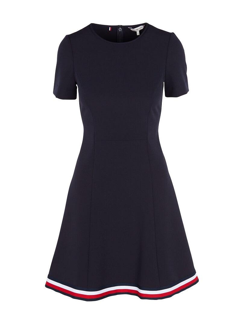5e0d3b0c485 Γυναικείο Φόρεμα TOMMY HILFIGER Angela Global WW0WW24224/403 Σκούρο Μπλέ