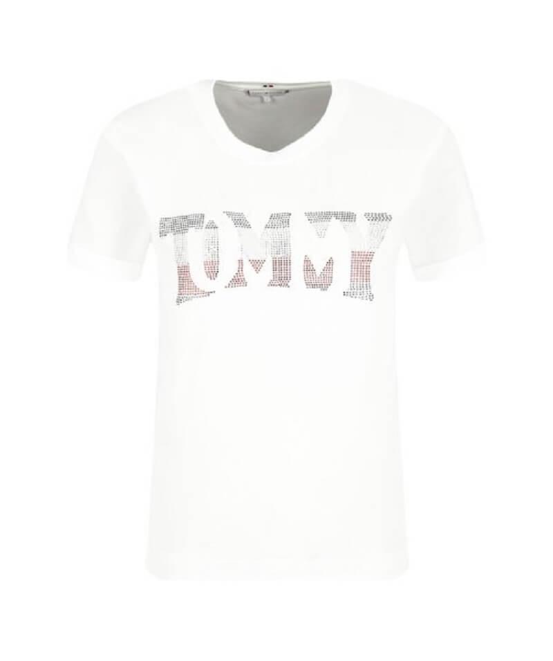 1ef58b50660a Γυναικεία Μπλούζα TOMMY HILFIGER Tyara C-Nk Tee WW0WW24512 100 Άσπρο