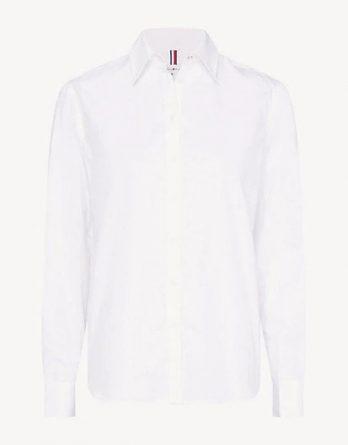 801deaf981fc γυναικείο πουκάμισο tommy hilfiger άσπρο με δαντέλα