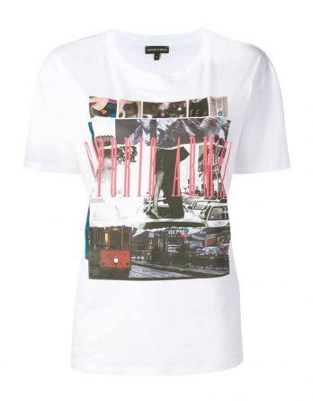 187b08df3690 γυναικείο tshirt armani άσπρο με στάμπα