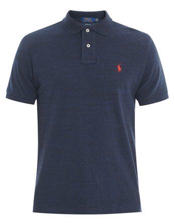 9543410d2030 Ανδρική Μπλούζα Polo Ralph Lauren Short Sleeve 710680784012 Σκούρο Μπλέ