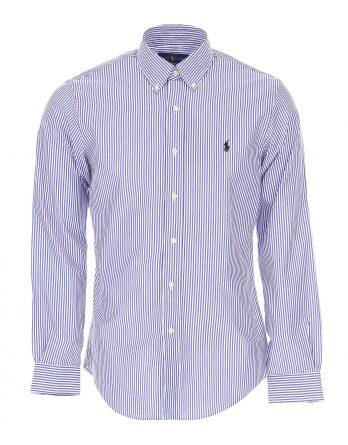 77b9a350a9e7 ανδρικό πουκάμισο ralph lauren slim ρίγα