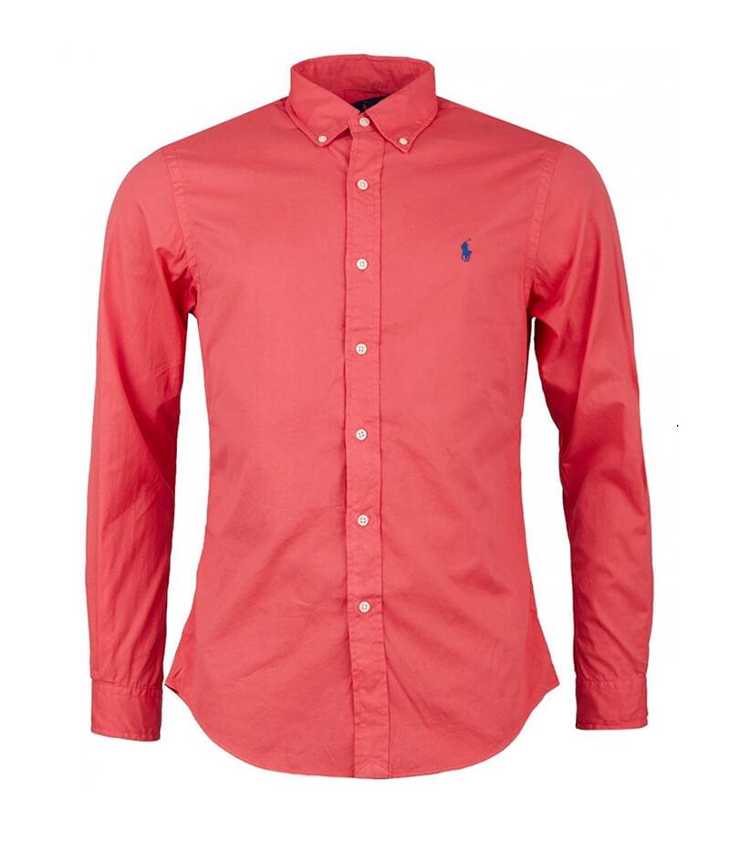 252176ab9876 Ανδρικό Πουκάμισο Polo Ralph Lauren Sport Slim 710741788008 Κόκκινο