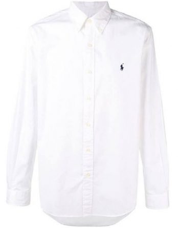 b3c3e7e68fdd Ανδρικό Πουκάμισο Polo Ralph Lauren Slim Classic Pony 710741788010 Άσπρο