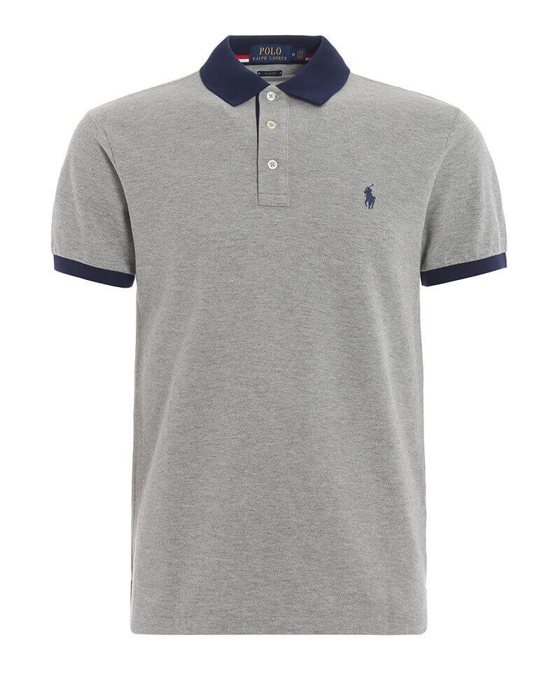 b1e303a4998e Ανδρική Μπλούζα Polo Ralph Lauren Short Sleeve 710752591001 Γκρί