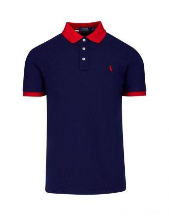 4dbc7236c7b3 Ανδρική Μπλούζα Polo Ralph Lauren Short Sleeve 710752591002 Σκούρο Μπλέ