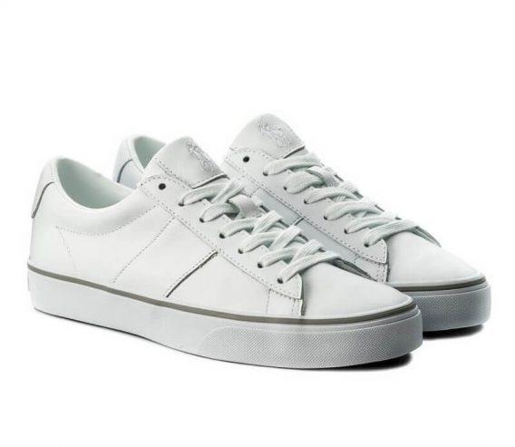 ανδρικό παπούτσι ralph lauren άσπρο
