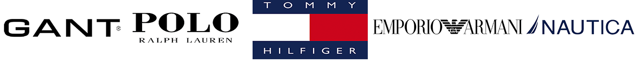 Gant, Polo, Tommy, Emporio Armani, Nautica (Λογότυπα)