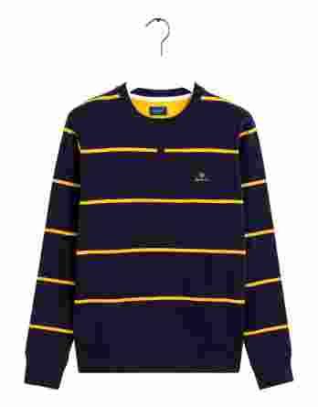 ανδρικό φούτερ gant ρίγα κίτρινο μπλε