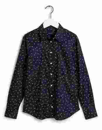 γυναικείο πουκάμισο gant λουλούδια σκούρο μπλε