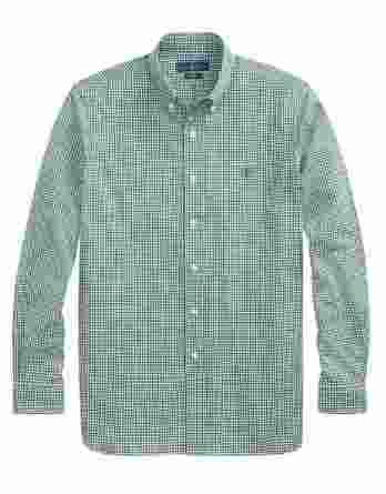 ανδρικό πουκάμισο ralph lauren καρό άσπρο πράσινο
