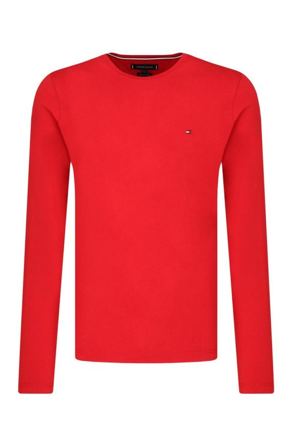 ανδρικό t-shirt tommy μακρύ μανίκι κόκκινο