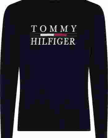 ανδρικό t-shirt tommy μακρύ μανίκι σκούρο μπλε