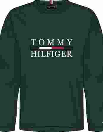 ανδρικό t-shirt tommy μακρύ μανίκι σκούρο πράσινο