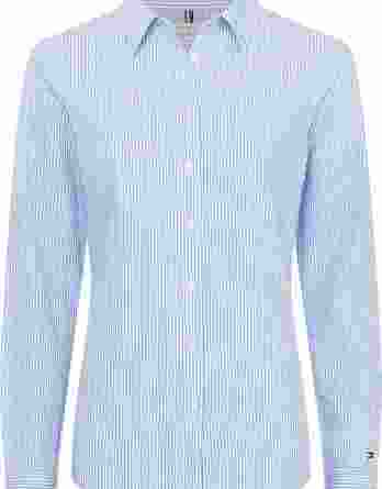 γυναικείο πουκάμισο tommy ρίγα άσπρο γαλάζιο