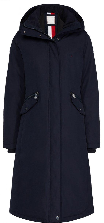 γυναικείο μπουφάν tommy μακρύ σκούρο μπλε