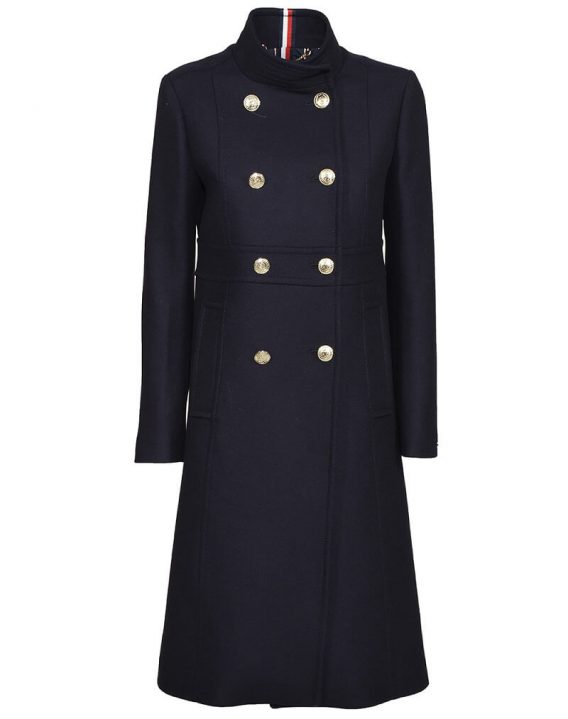 γυναικείο παλτό tommy σκούρο μπλε