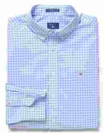 ανδρικό πουκάμισο gant καρό γαλάζιο