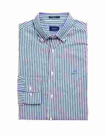 ανδρικό πουκάμισο gant ρίγα μπλε