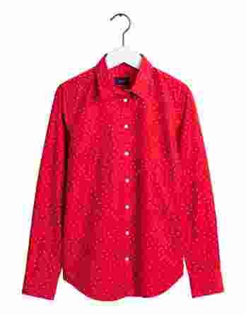 γυναικείο πουκάμισο gant dot slim κόκκινο