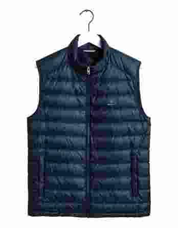ανδρικό αμάνικο μπουφάν gant σκούρο μπλε