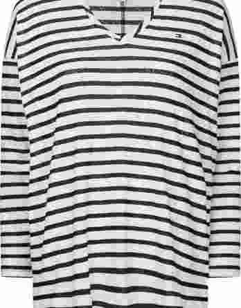 γυναικεία μπλούζα tommy άσπρο σκούρο μπλε